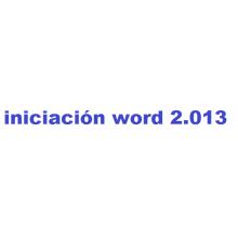 Curso de Iniciación a Word 2013 online